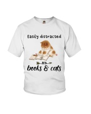 Books And Cats Youth T-Shirt thumbnail