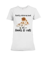 Books And Cats Premium Fit Ladies Tee thumbnail