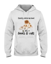 Books And Cats Hooded Sweatshirt thumbnail