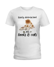 Books And Cats Ladies T-Shirt thumbnail