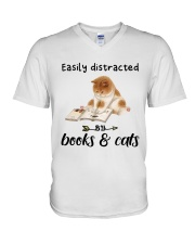 Books And Cats V-Neck T-Shirt tile