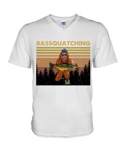 Bassquatching V-Neck T-Shirt thumbnail