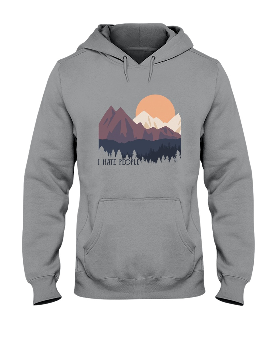 I Hate People 1 Hooded Sweatshirt