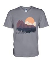 I Hate People 1 V-Neck T-Shirt thumbnail