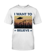 I Want To Believe Premium Fit Mens Tee thumbnail