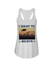 I Want To Believe Ladies Flowy Tank thumbnail