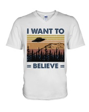 I Want To Believe V-Neck T-Shirt thumbnail