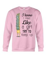 I Read Like A Girl Crewneck Sweatshirt thumbnail