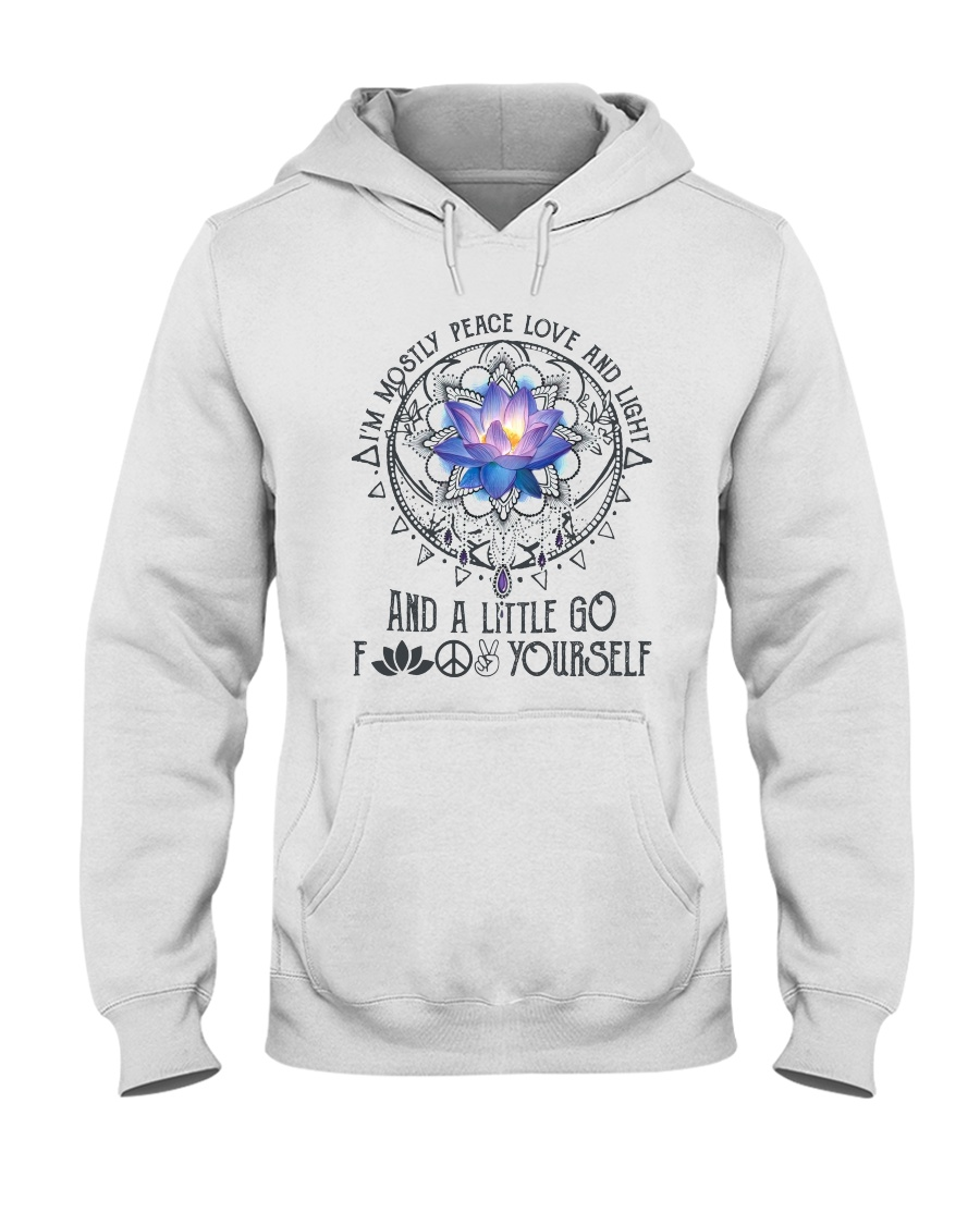 Peace Love And Light Hooded Sweatshirt