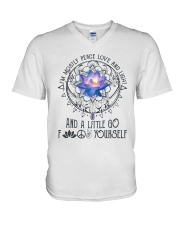 Peace Love And Light V-Neck T-Shirt thumbnail