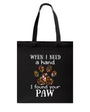 I Found Your Paw Tote Bag thumbnail