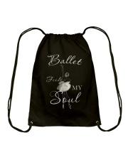 Ballet Feeds My Soul Drawstring Bag thumbnail
