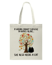 She Also Needs A Cat Tote Bag thumbnail