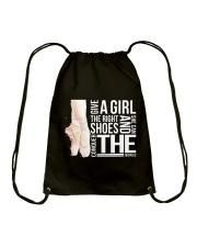 Give A Girl The Right Shoes Drawstring Bag thumbnail