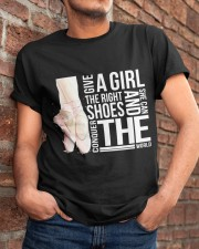 Give A Girl The Right Shoes Classic T-Shirt apparel-classic-tshirt-lifestyle-26