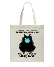 She Also Needs Her Cat Tote Bag thumbnail
