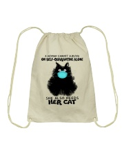 She Also Needs Her Cat Drawstring Bag thumbnail