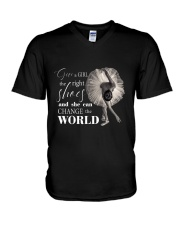 Give A Girl The Right Shoes V-Neck T-Shirt thumbnail