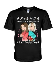 Friends Who Teach Togethers V-Neck T-Shirt thumbnail