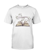 I Would Rather Be Reading Classic T-Shirt front