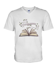 I Would Rather Be Reading V-Neck T-Shirt thumbnail