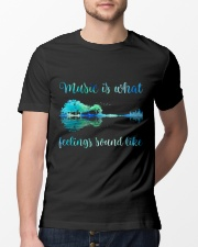 Music Is What Feelings Sound Like Classic T-Shirt lifestyle-mens-crewneck-front-13