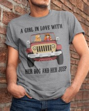 A Girl In Love With Her Dog Classic T-Shirt apparel-classic-tshirt-lifestyle-26