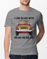 A Girl In Love With Her Dog Classic T-Shirt lifestyle-mens-crewneck-front-13