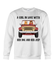 A Girl In Love With Her Dog Crewneck Sweatshirt thumbnail