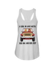 A Girl In Love With Her Dog Ladies Flowy Tank thumbnail