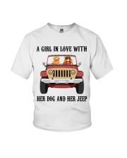 A Girl In Love With Her Dog Youth T-Shirt thumbnail