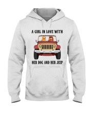 A Girl In Love With Her Dog Hooded Sweatshirt thumbnail