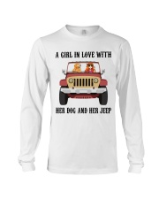 A Girl In Love With Her Dog Long Sleeve Tee thumbnail