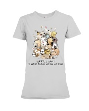 I Have Plans With My Dogs Premium Fit Ladies Tee thumbnail