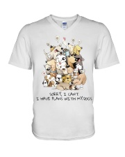 I Have Plans With My Dogs V-Neck T-Shirt thumbnail