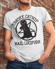 Smoke Catnip Hail Lucipurr Classic T-Shirt apparel-classic-tshirt-lifestyle-26