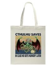 Cthulhu Saves Tote Bag thumbnail