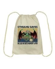 Cthulhu Saves Drawstring Bag thumbnail