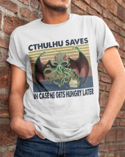 Cthulhu Saves Classic T-Shirt apparel-classic-tshirt-lifestyle-26