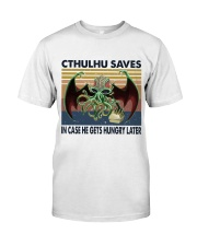 Cthulhu Saves Classic T-Shirt front