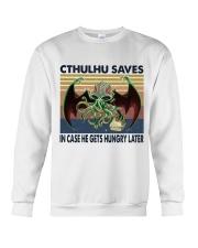Cthulhu Saves Crewneck Sweatshirt thumbnail
