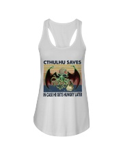 Cthulhu Saves Ladies Flowy Tank thumbnail