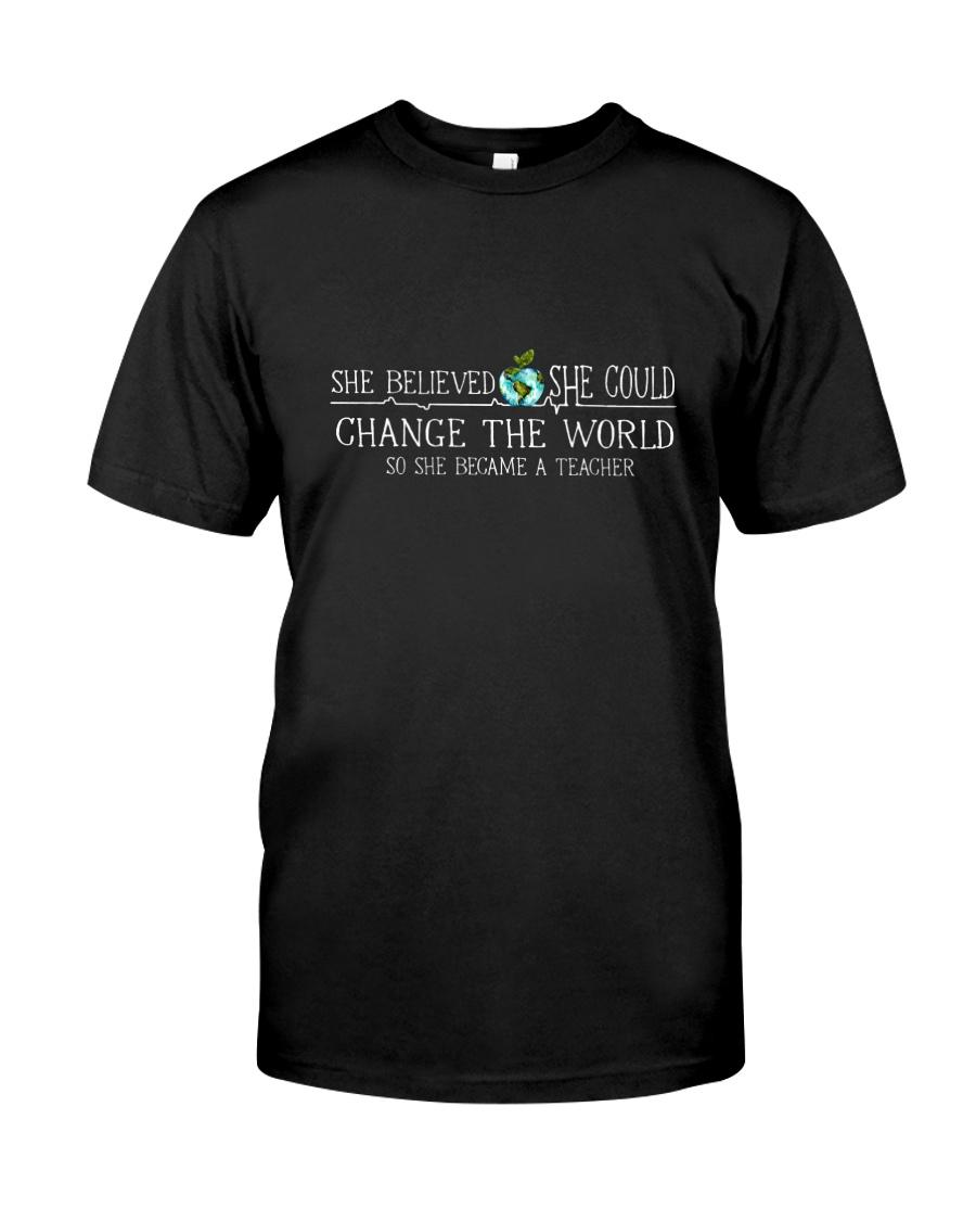 She Became A Teacher Classic T-Shirt