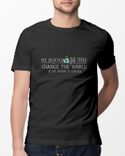 She Became A Teacher Classic T-Shirt lifestyle-mens-crewneck-front-13