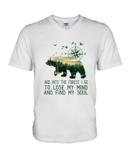 And Into The Forest I Go V-Neck T-Shirt tile