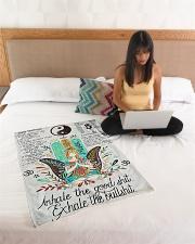 "Love Yoga Small Fleece Blanket - 30"" x 40"" aos-coral-fleece-blanket-30x40-lifestyle-front-11"