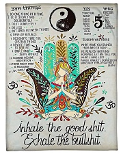 "Love Yoga Small Fleece Blanket - 30"" x 40"" front"