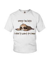 Sorry I Am Late Youth T-Shirt thumbnail