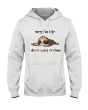 Sorry I Am Late Hooded Sweatshirt thumbnail