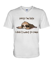 Sorry I Am Late V-Neck T-Shirt thumbnail